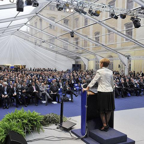 Confindustria assembly hall
