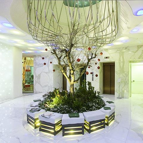 Boscolo Hotel hall restyling
